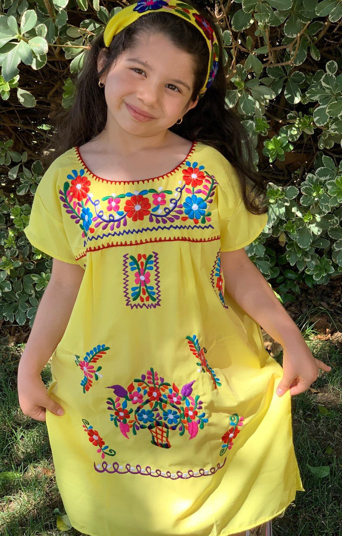 Mexican Embroidered Girls Dress Mexican Girls Yellow Etsy Girls Yellow Dress Girls Dresses Size 6 Mexican Dresses [ 1766 x 1126 Pixel ]
