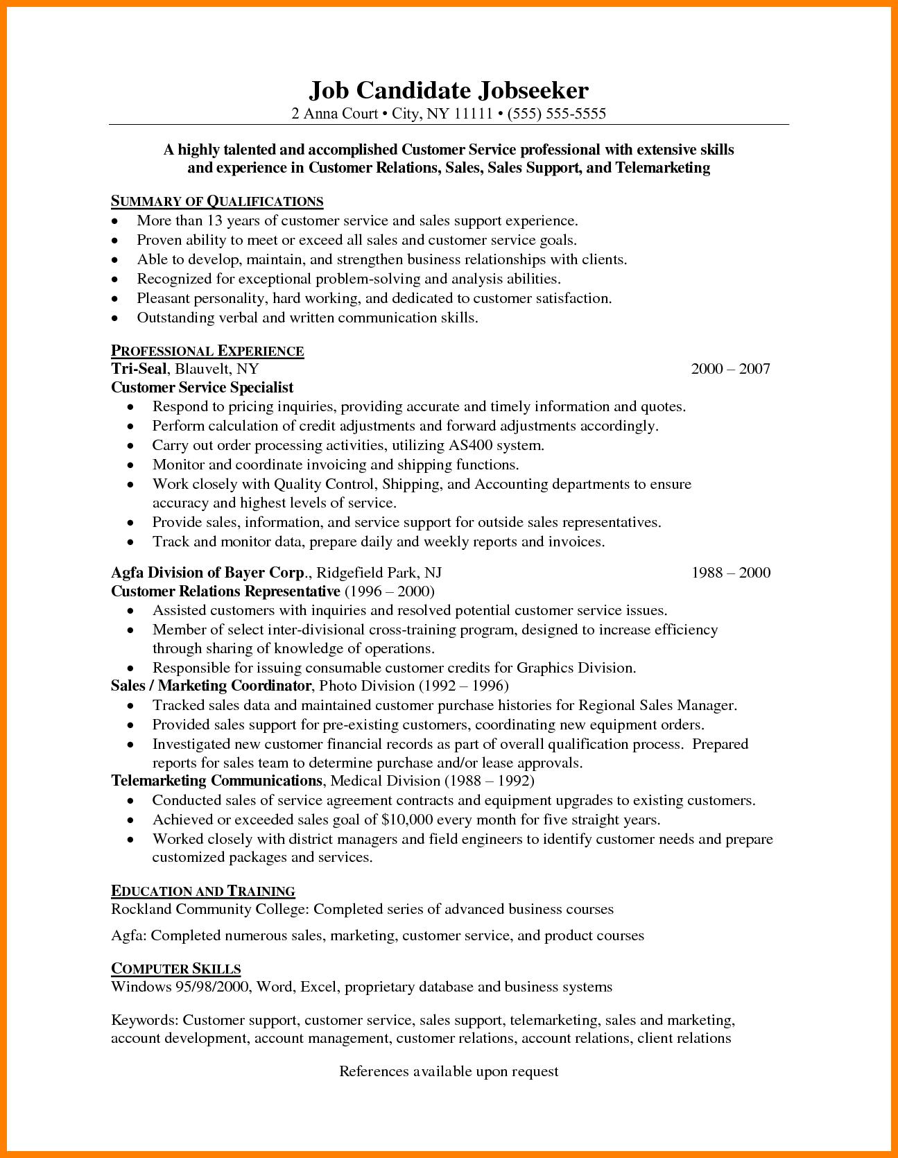 resume Resume Telemarketing url resume htm telemarketing the best estimate professional professional