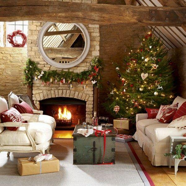 Haus Weihnachten Schöne Deko Idee · Interior DecoratingChristmas ...
