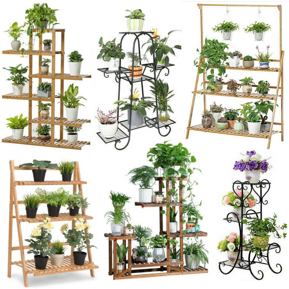 Frame Ladder Flower Pot Holder Tall
