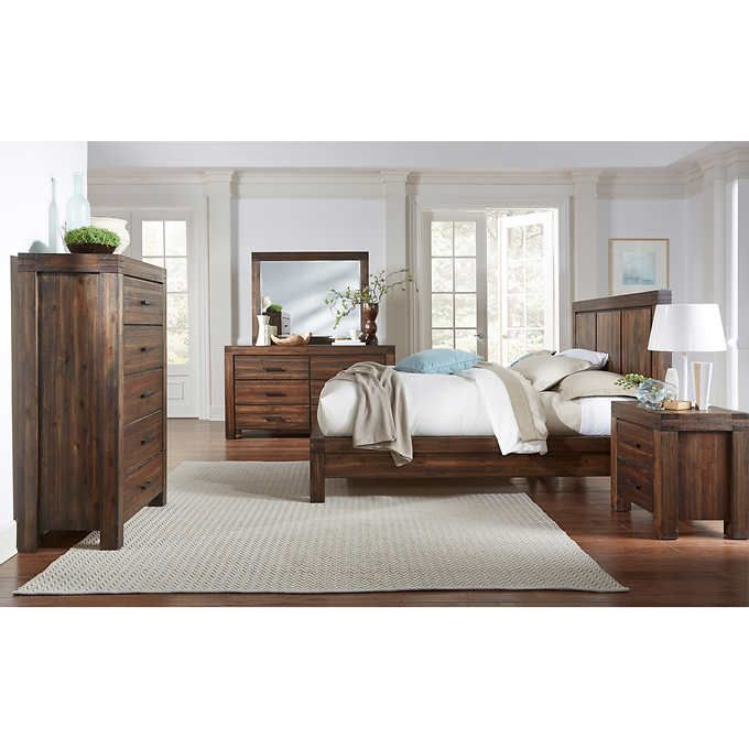 mellina 6 piece king bedroom set bedroom furniture pinterest rh pinterest com