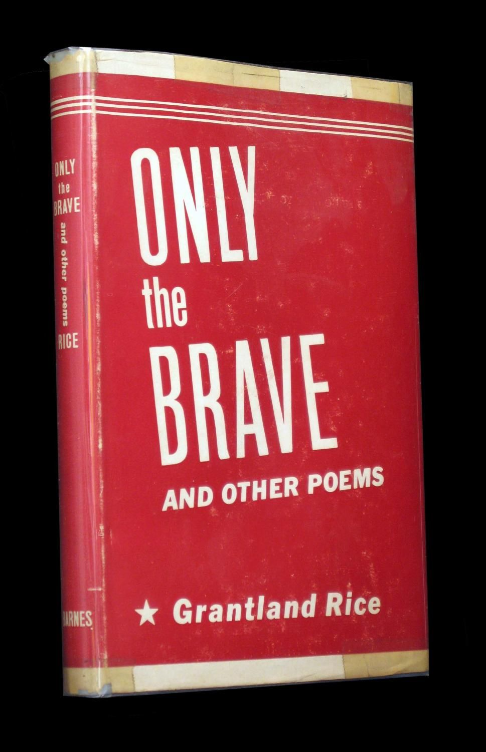 """Known as the """"Dean of American Sports Writers,"""" Rice was also a talented poet. Here, """"inspirational, soothing poetry, especially suitable to send to the boys at camp"""" (from the jacket). Prime examples of what Irving S. Cobb once referred to as """"homely, gentle American verse."""" Fairly scarce in the oh-so-delicate war-time jacket. Bookseller Inventory # 4461"""