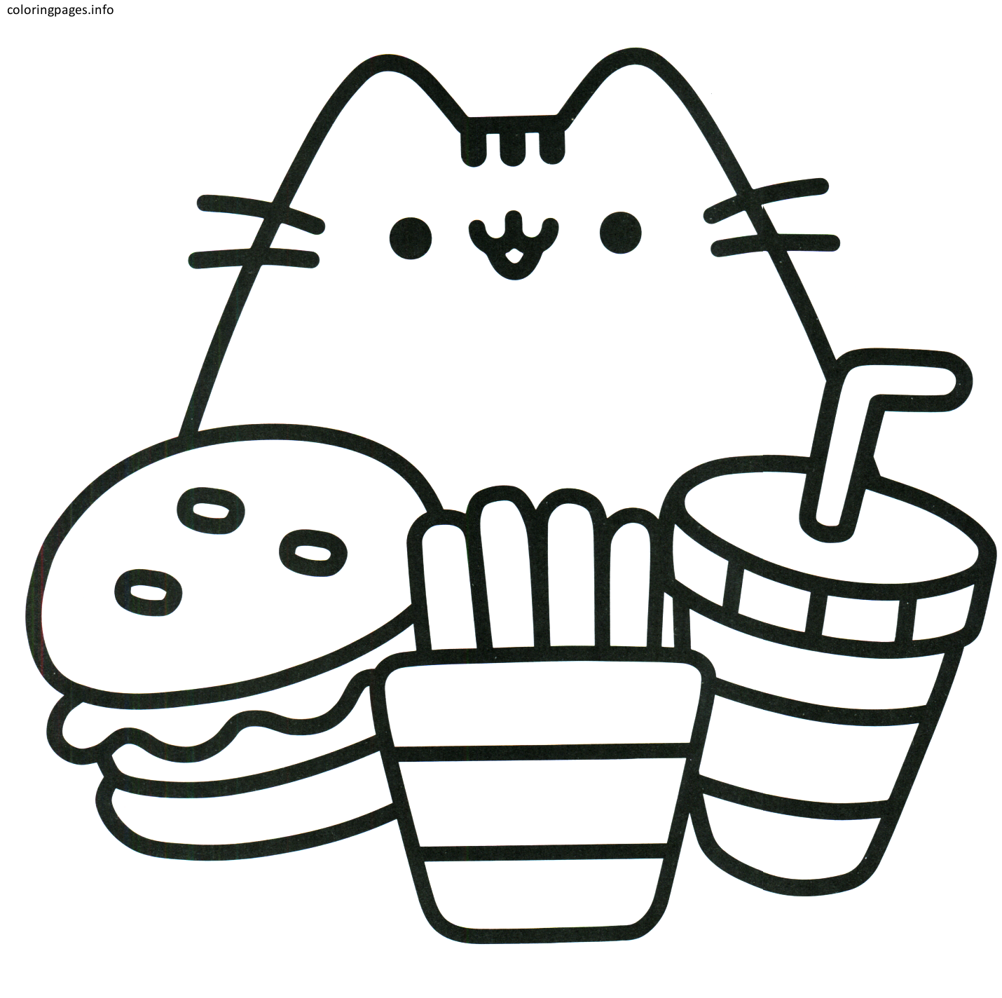 Kawaii Pusheen Cat Coloring Pages Pusheen Coloring Pages