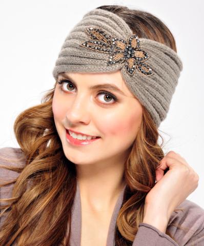 Knit Head Wrap with Embellishment – Jewelie's Boutique