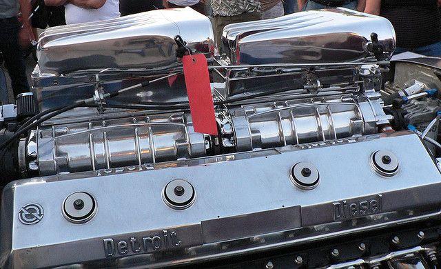 V12 Detroit Diesel 1960 Peterbuilt Rod Detroit Diesel Diesel Trucks Custom Big Rig