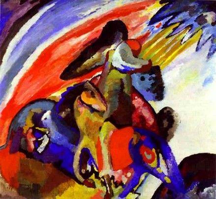 Improvisation 12 Cavalier 1910 Huile Sur Toile 97 X 107 Wassily Kandinsky Kandinsky Art Wassily Kandinsky Paintings Kandinsky
