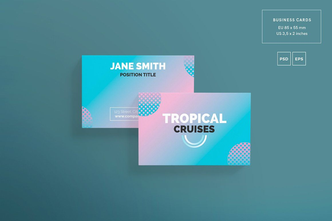 Promo Bundle | Tropical Cruises | Business cards, Business card ...