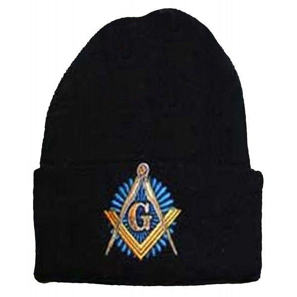 c9dafe41dc4 Masonic Winter Skull Cap Beanie Freemason Mens One Size Black ...