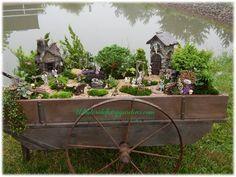 Turn a rustic wagon into a fairy garden masterpiece!