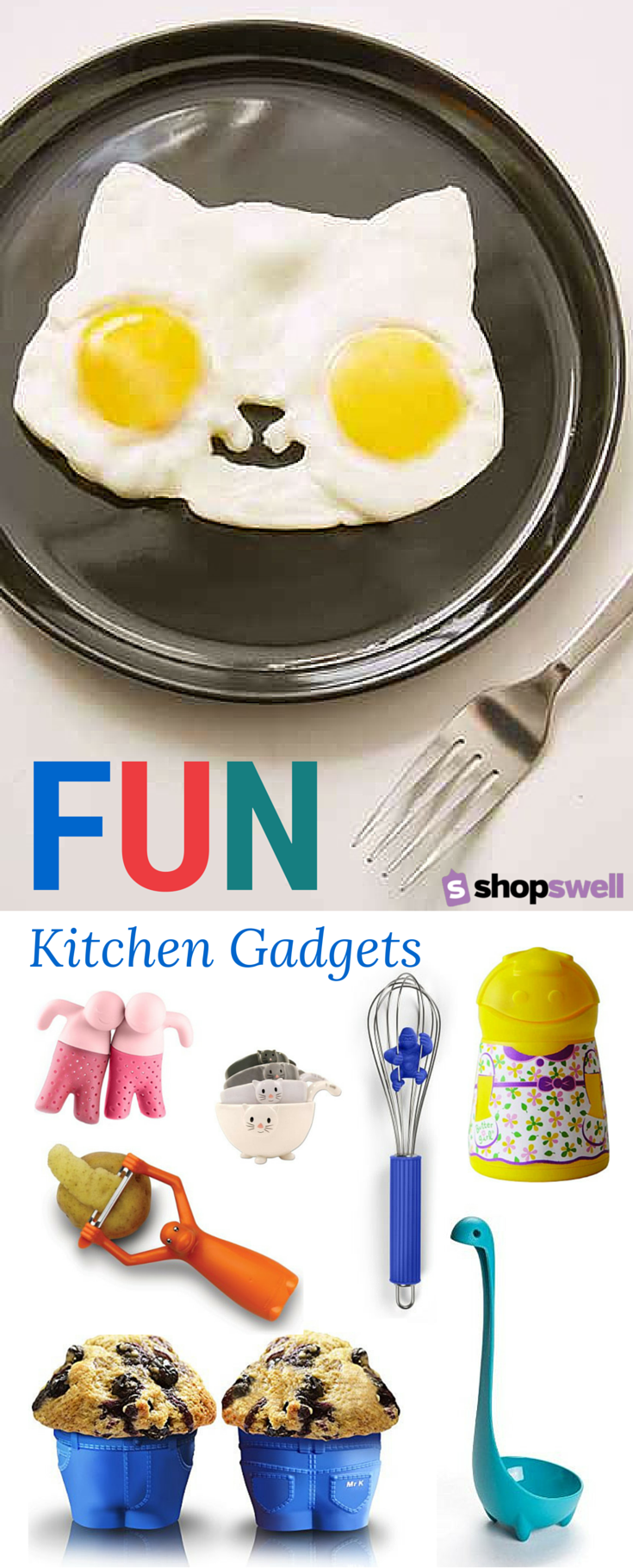 A Little Fun To Your Cooking Routine By Collecting These Fun Kitchen Gadgets Shop The Foodie Friendly Collec Cool Kitchen Gadgets Kitchen Gadgets Easy Cooking