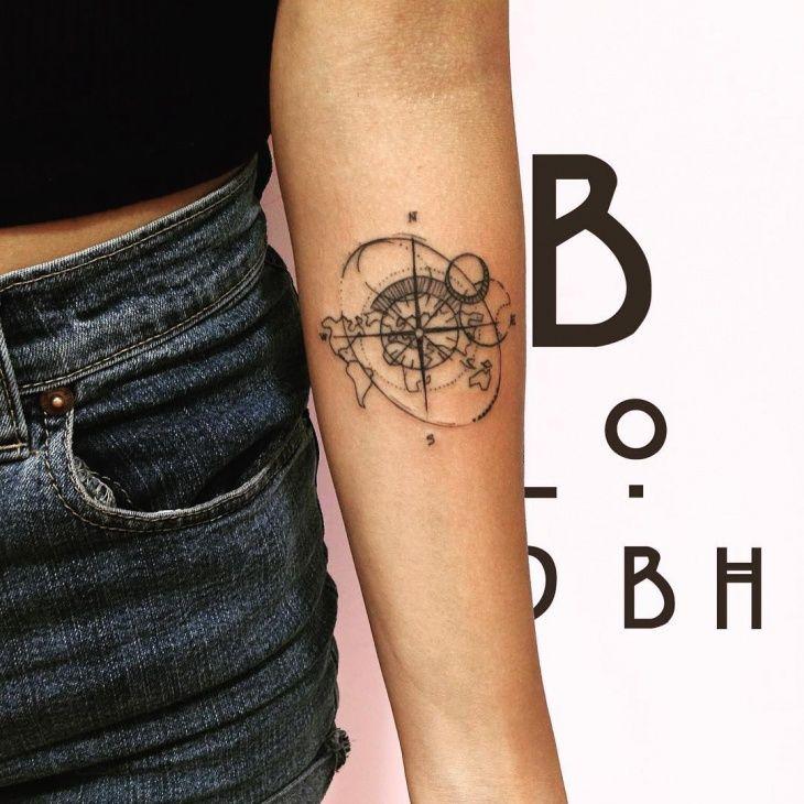 21 World Map Tattoo Designs Ideas