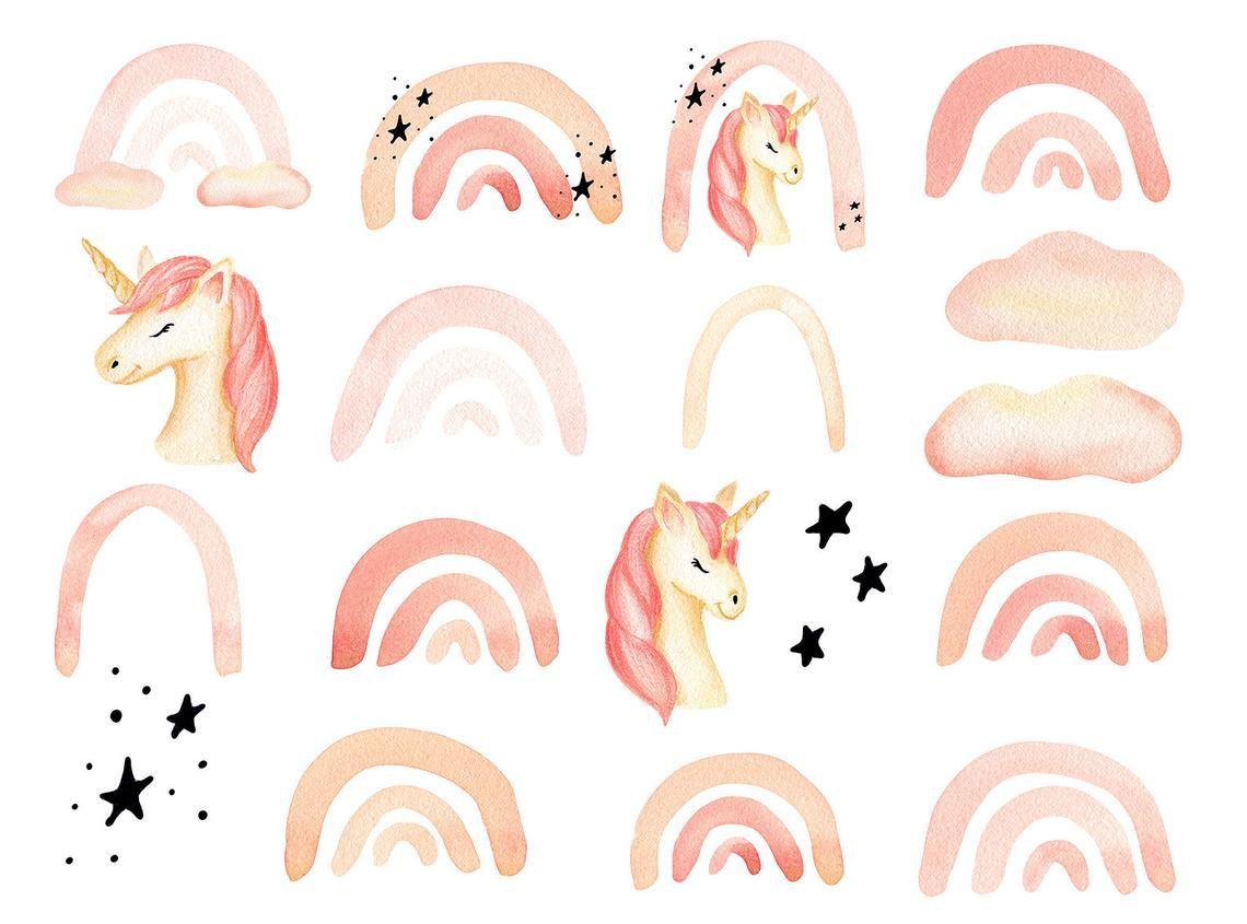 Pastel Rainbow Clipart Unicorn Clipart Png Rainbow Pastel Etsy Rainbow Clipart Clip Art Unicorns Clipart