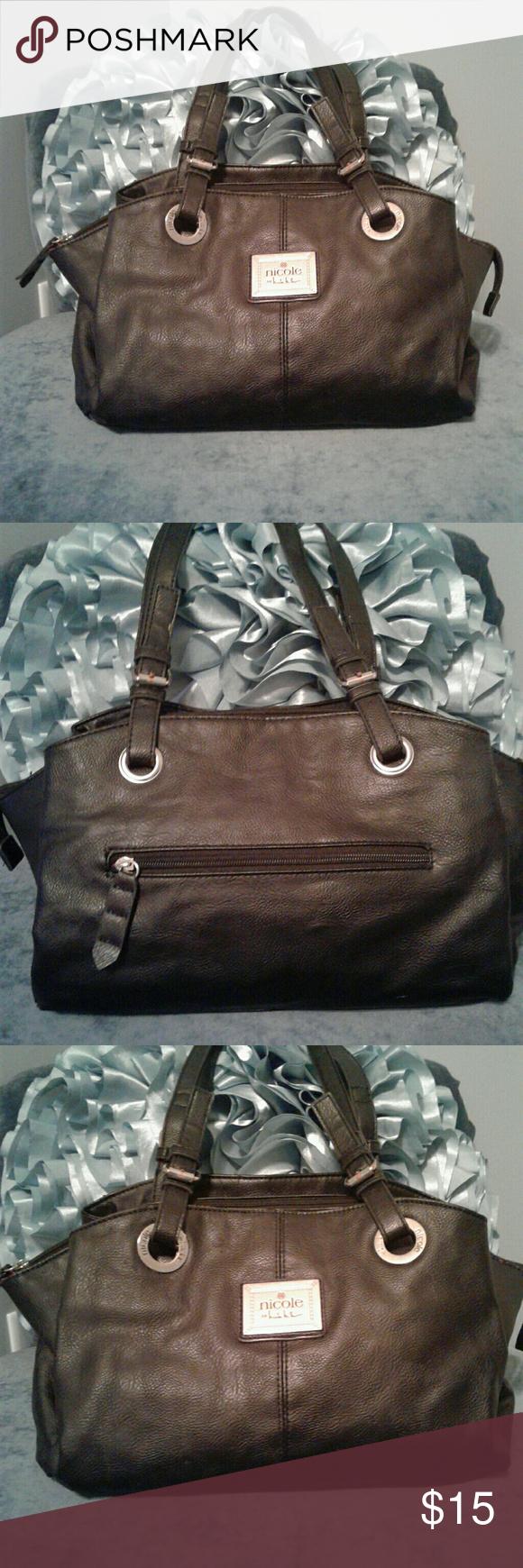 Black Nicole Miller handbag Women's pre loved medium black