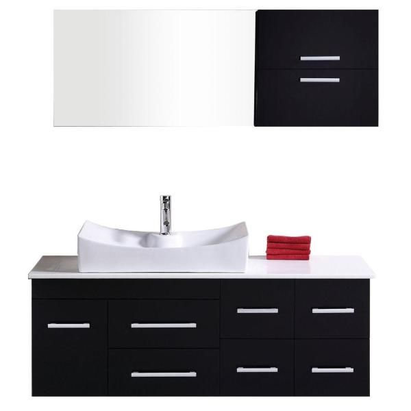 "Springfield 53"" Espresso Modern Single Sink Wall Mount"