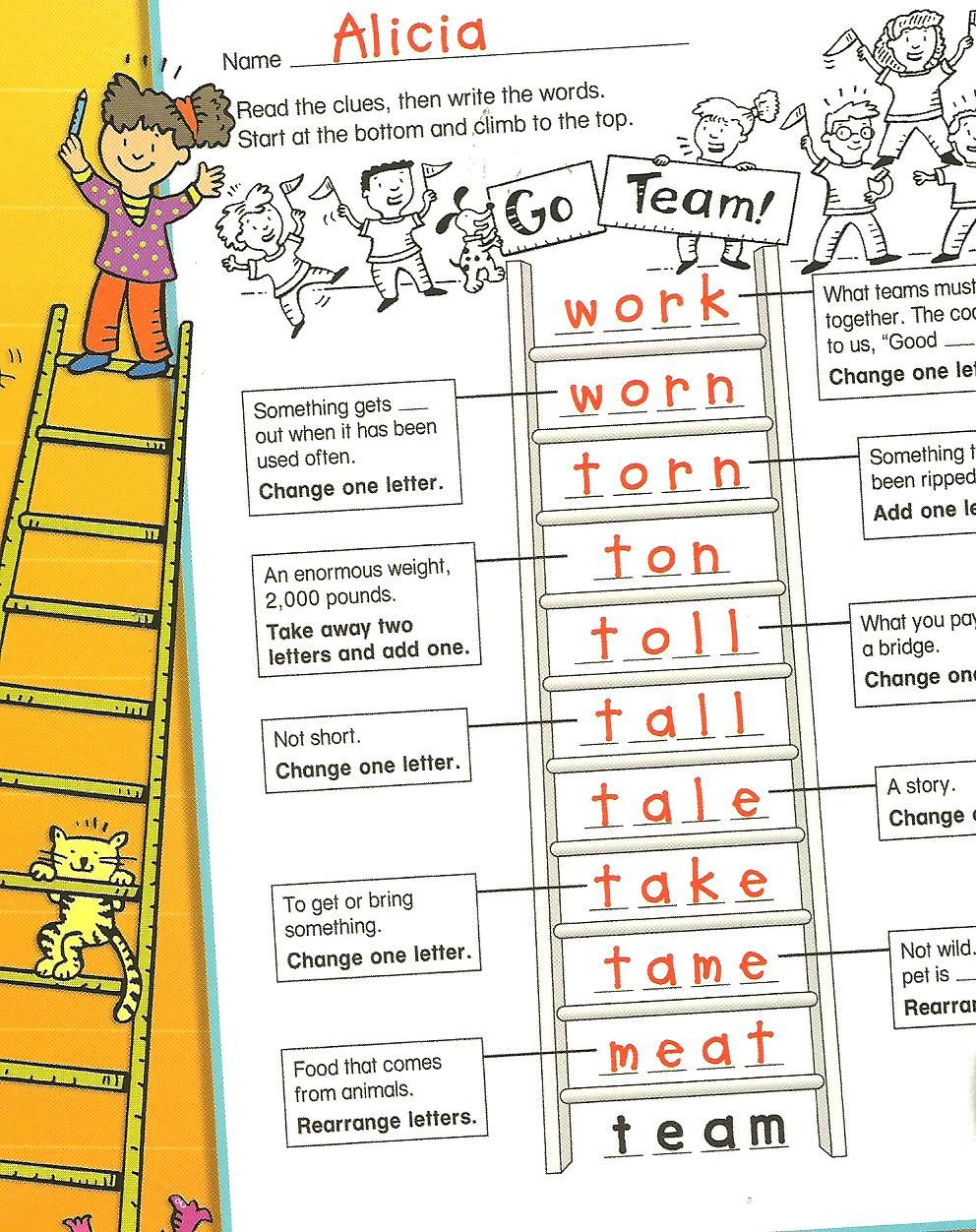 Worksheets Word Ladder Worksheets multisensory monday word ladders fun ways to use when tutoring orton