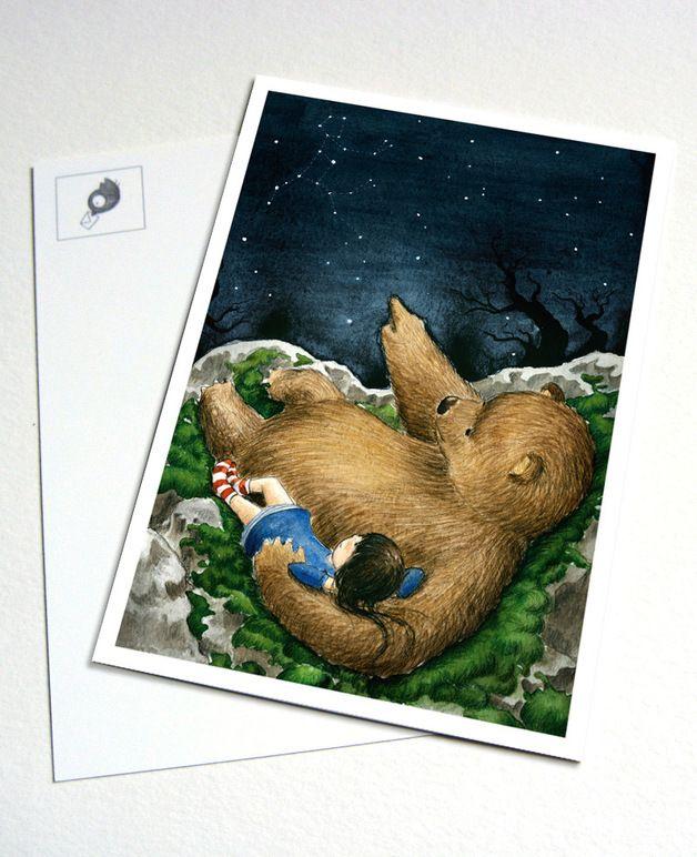 "Postkarte ""Sternengucker"""