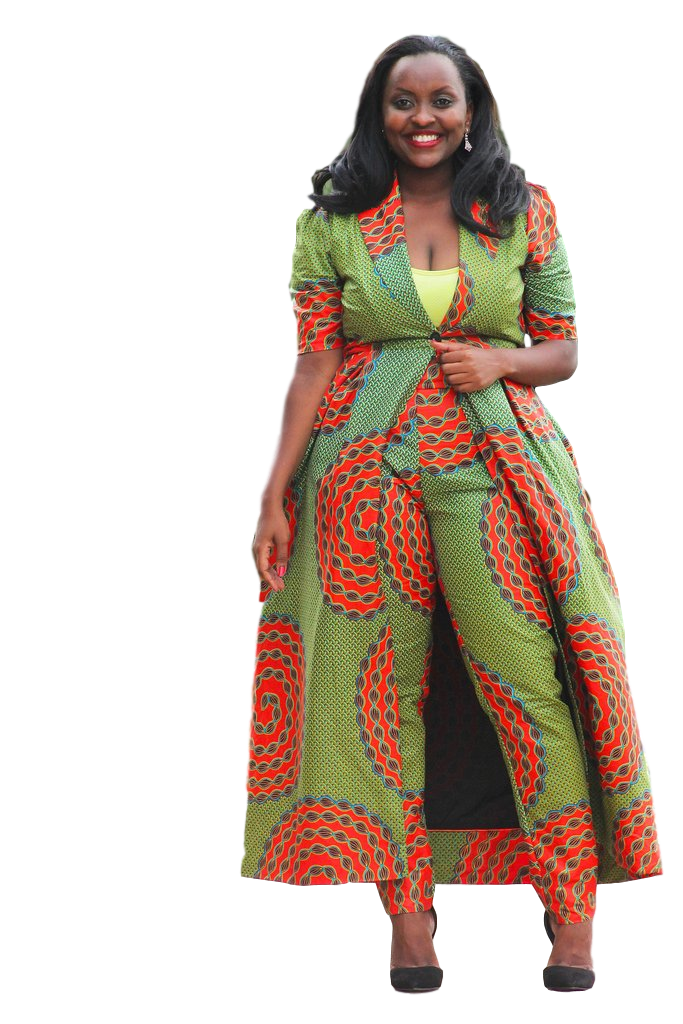 1000 Images About African Print 2 Piece Outfit On: A Beautiful Two Piece ,long Coat And Trouser In Ankara