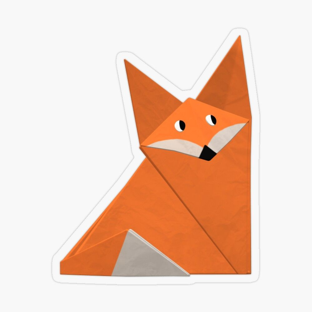 Photo of 'Origami fox' Sticker by Red Socks