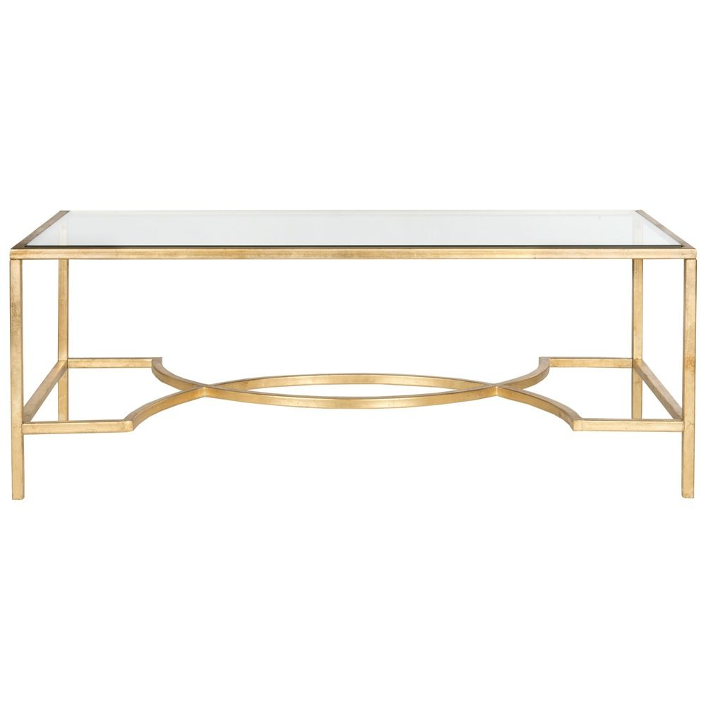 Safavieh inga gold coffee table overstock com shopping great deals on safavieh coffee