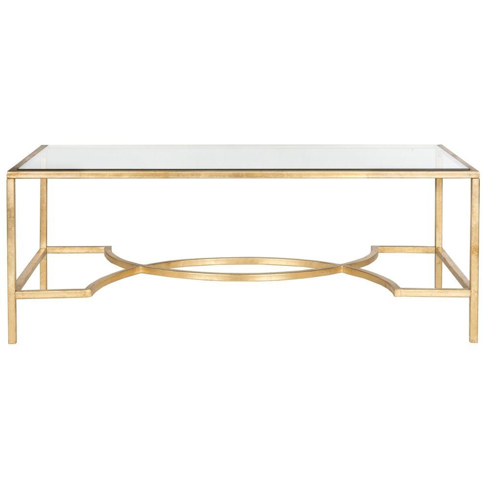 Safavieh inga gold coffee table overstock com shopping great deals on safavieh coffee
