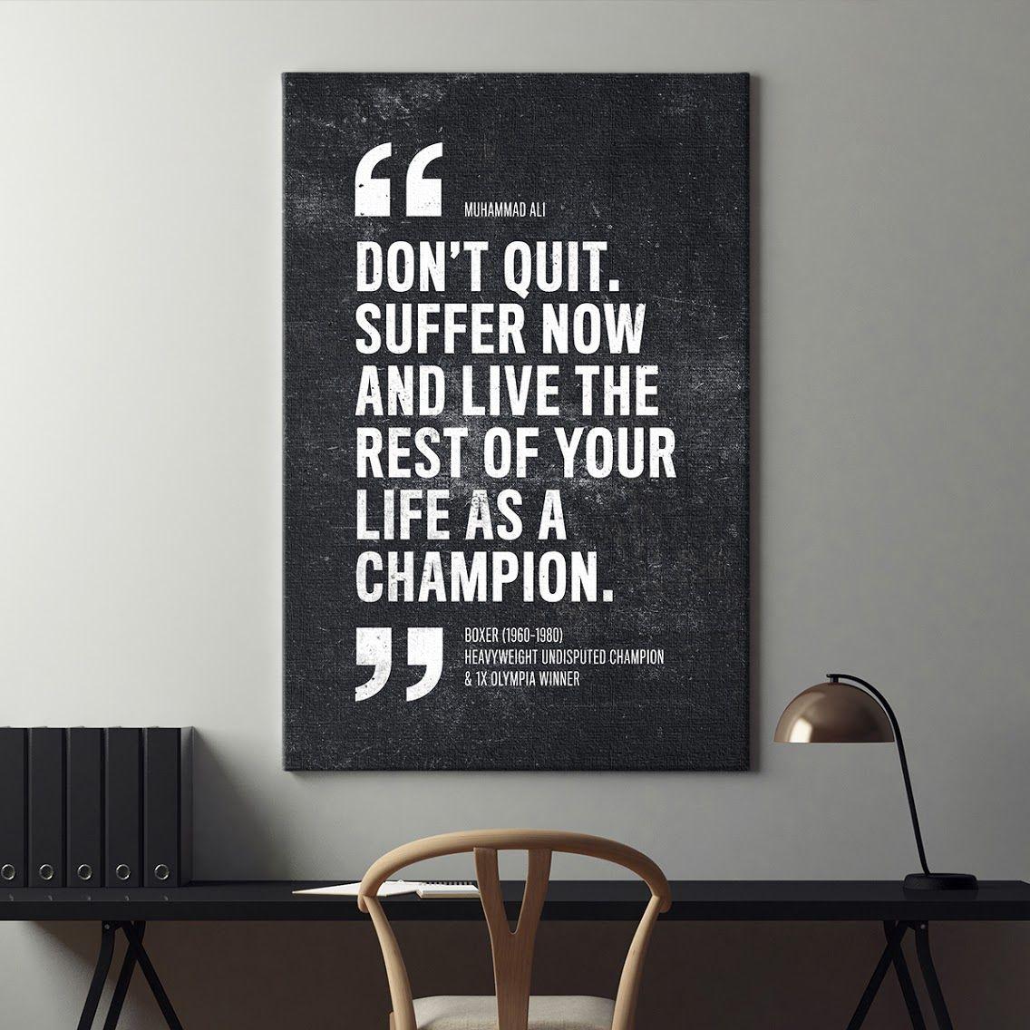 Motivation Zitat auf Leinwand LIFE IS WHAT YOU MAKE IT Motivationsspruch