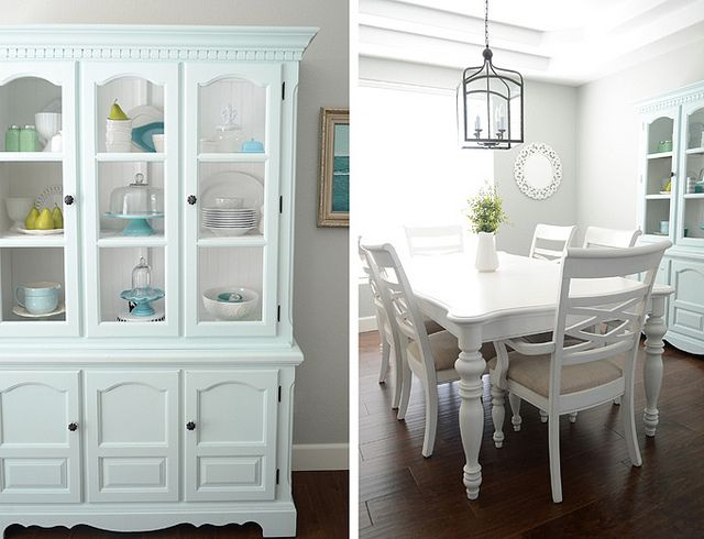Simplify Dining Room Inspiration, White Dining Room Table And Hutch