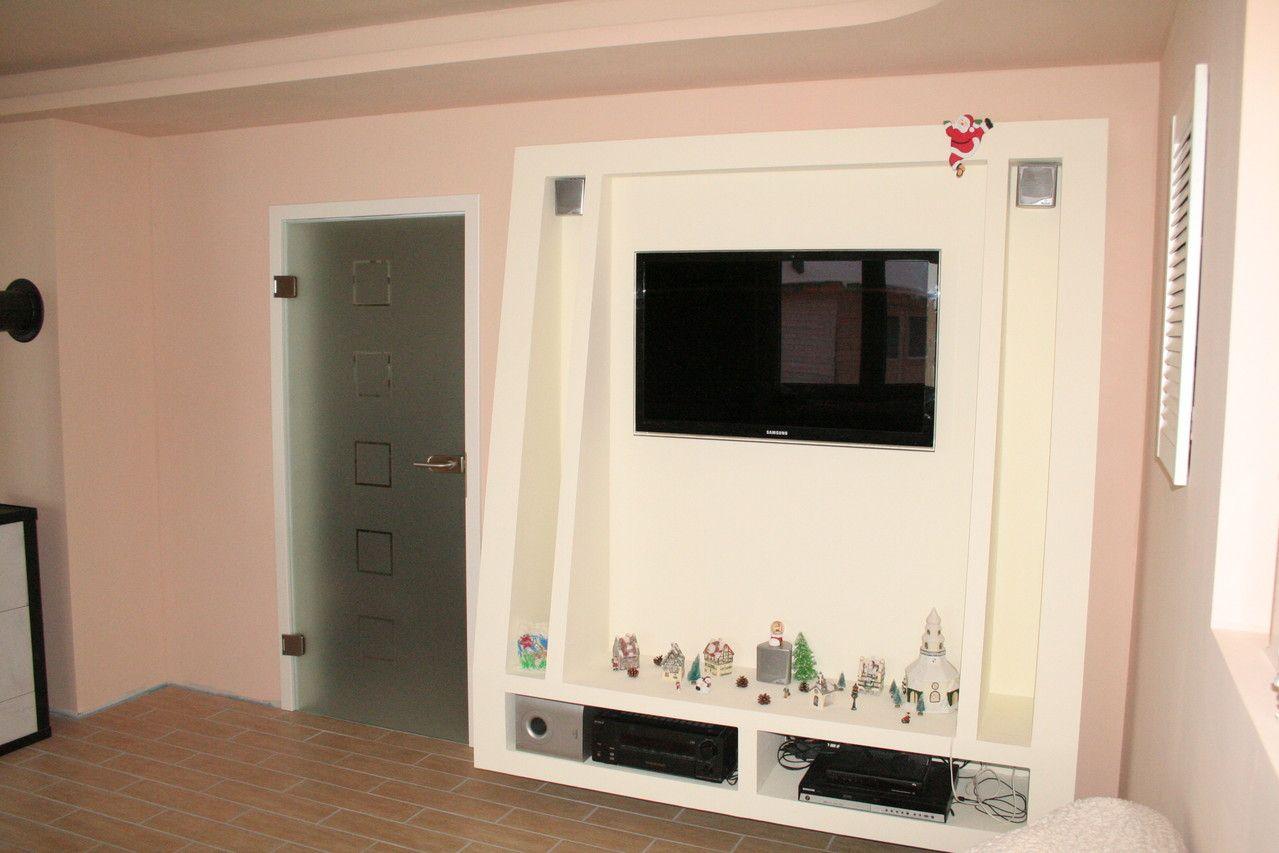 Trockenbau Fernsehwand. Der etwas andere Fernsehschrank ...