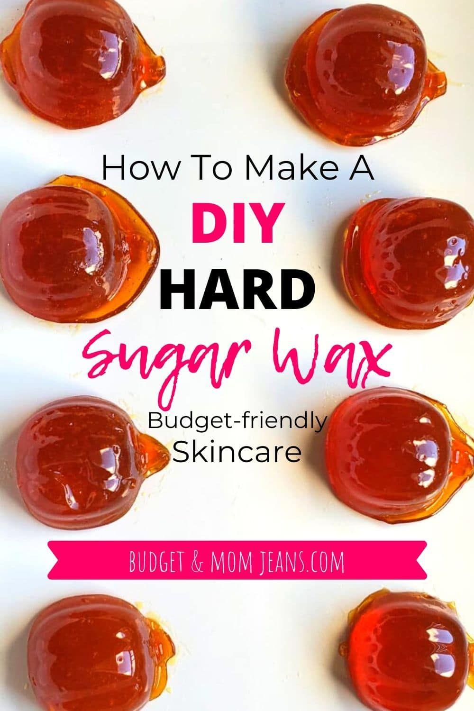 Homemade hard sugar wax for hair removal pumpkinshaped