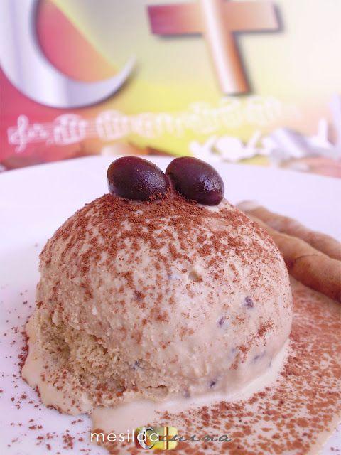 La cocina de Mesilda: HELADO CAPUCCINO CON TROCITOS DE CHOCOLATE