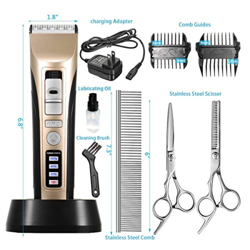 FOCUSPET Pets Grooming Clippers, Professional Cordless