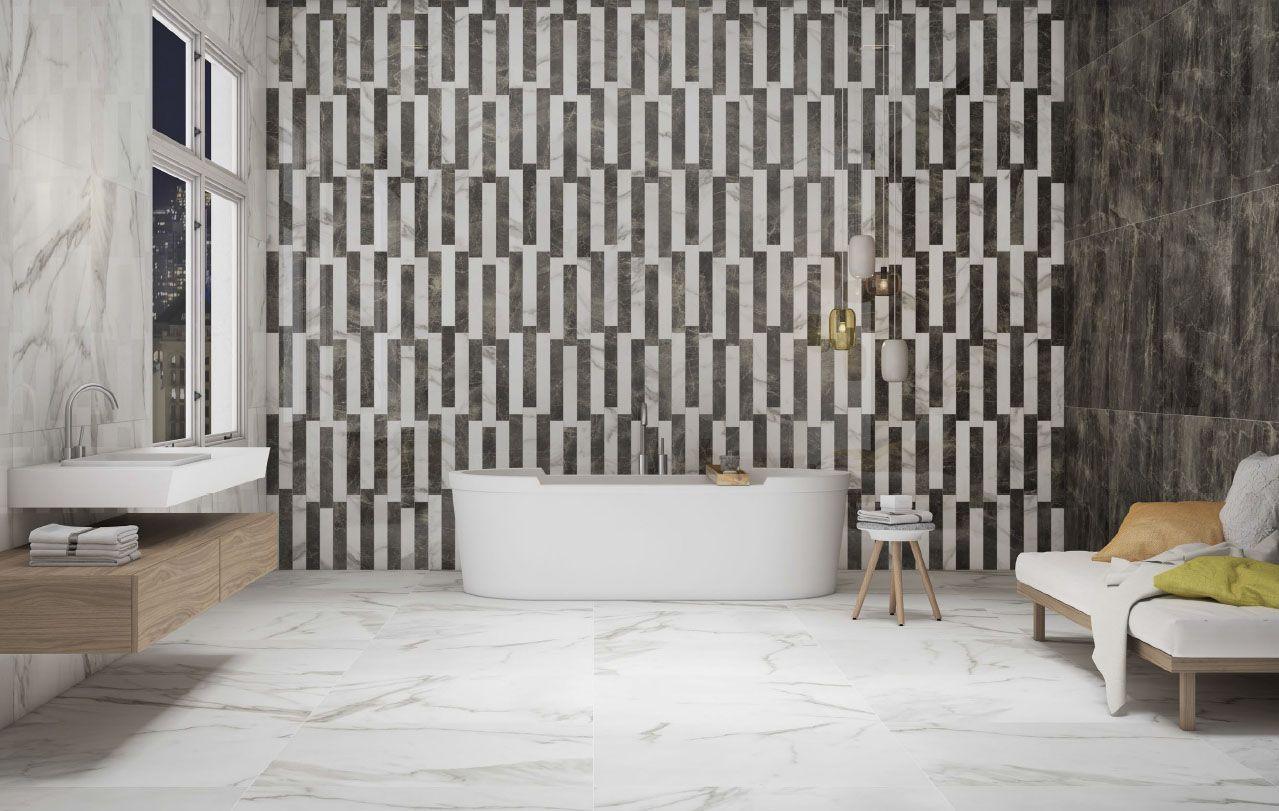 Nuevas ideas para decorar las paredes del ba o en azulejos for Decorar paredes banos pequenos