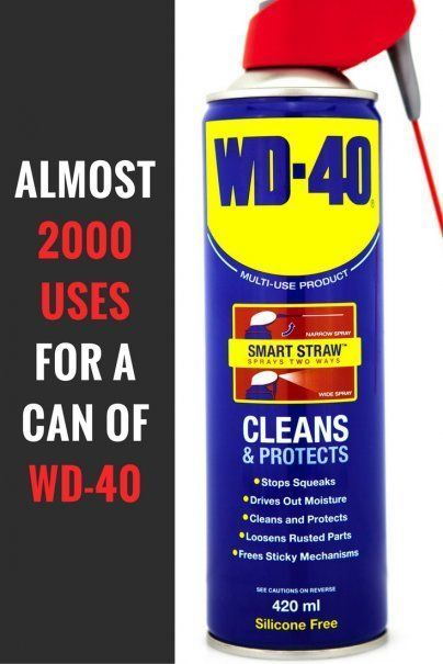 Almost 2000 Uses For A Can Of Wd 40 Wd 40 Wd 40 Uses Tips