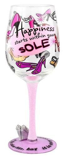 """Diva 2"" Wine Glass by Top Shelf (Hula Island)"