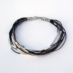 Easy to make, add a layered tube bead bracelet to any outfit!