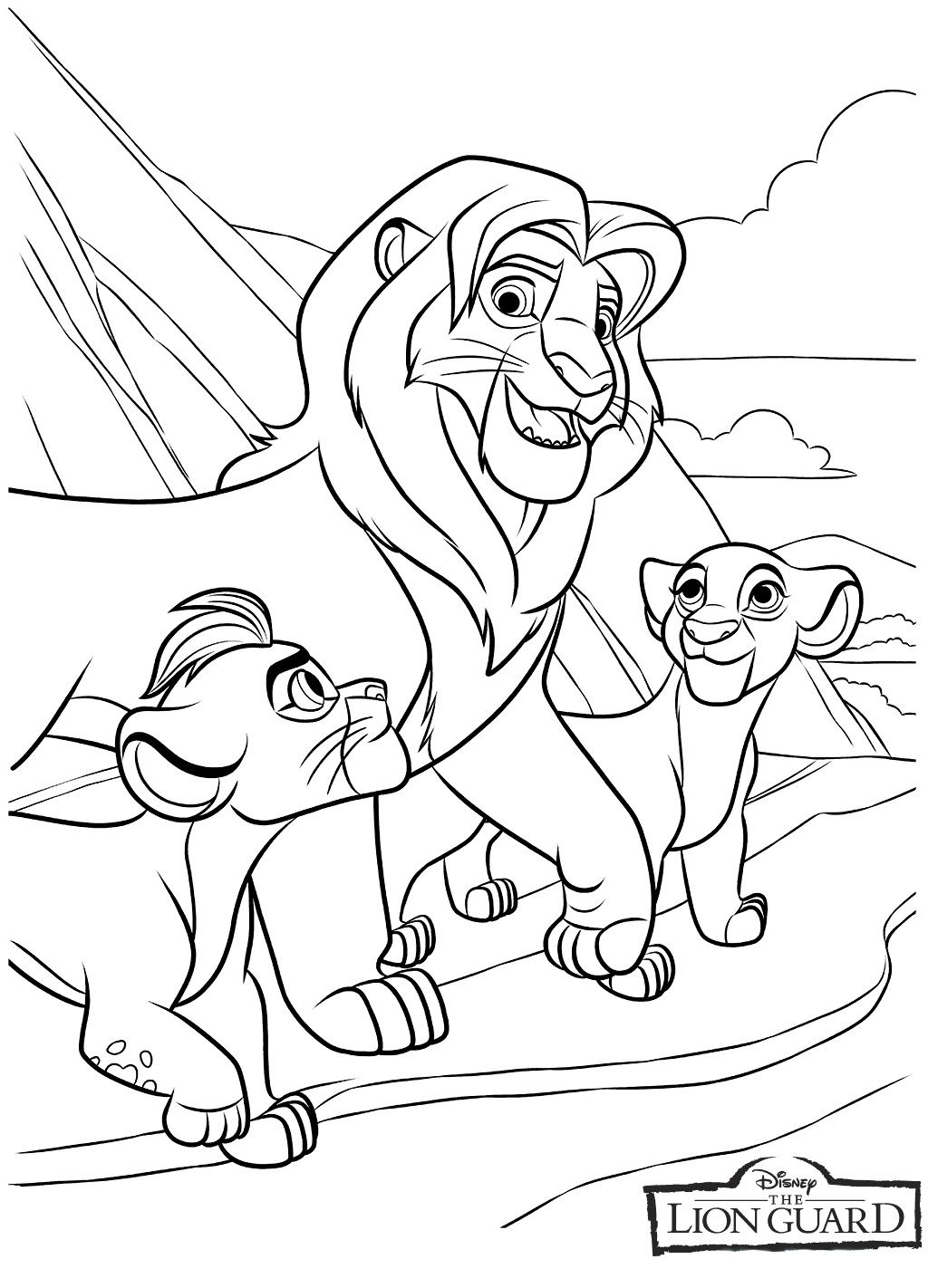 Disney Is At It Again With Lion King S Next Generation Lion Guard Simba And Nala Has A Famil Lion Coloring Pages Cartoon Coloring Pages Family Coloring Pages