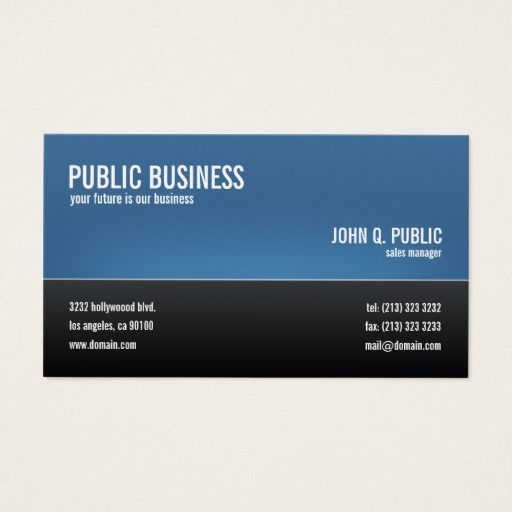Modern Corporate Black And Blue Business Card Zazzle Com Blue Business Card Business Cards