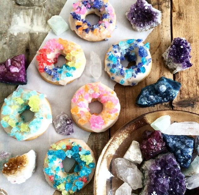 Vegan Rock Candy Donuts The Friendly Fig Vegan Donuts Delicious Donuts Colorful Donuts