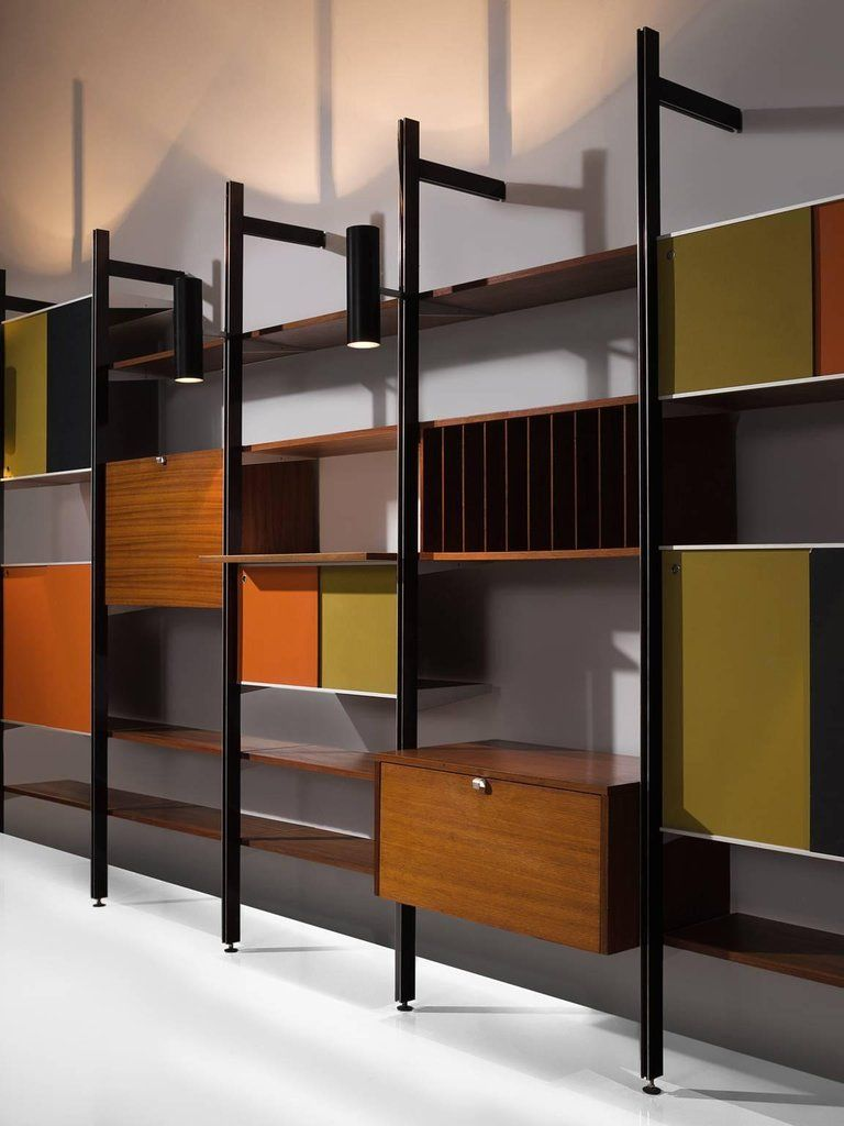 george nelson for herman miller css walnut wall unit 5