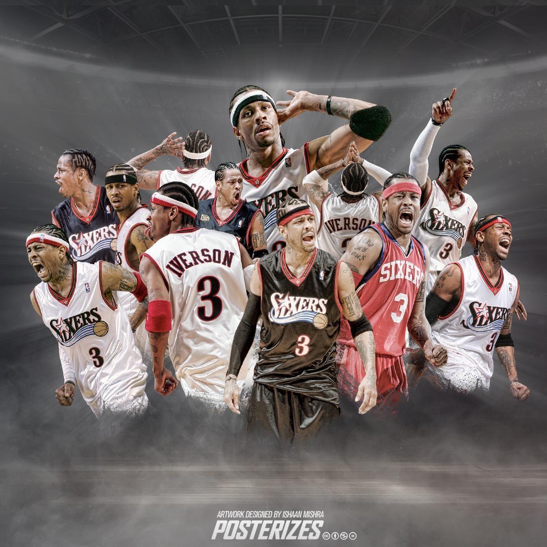 Allen Iverson Allen Iverson Basketball Star Nba Wallpapers