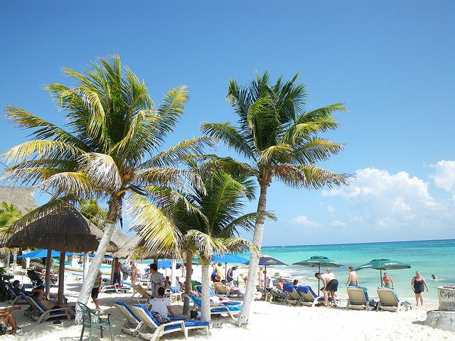Playadelcarmen Playamamitas Is One Of The Most Por Beaches In Playa Del Carmen