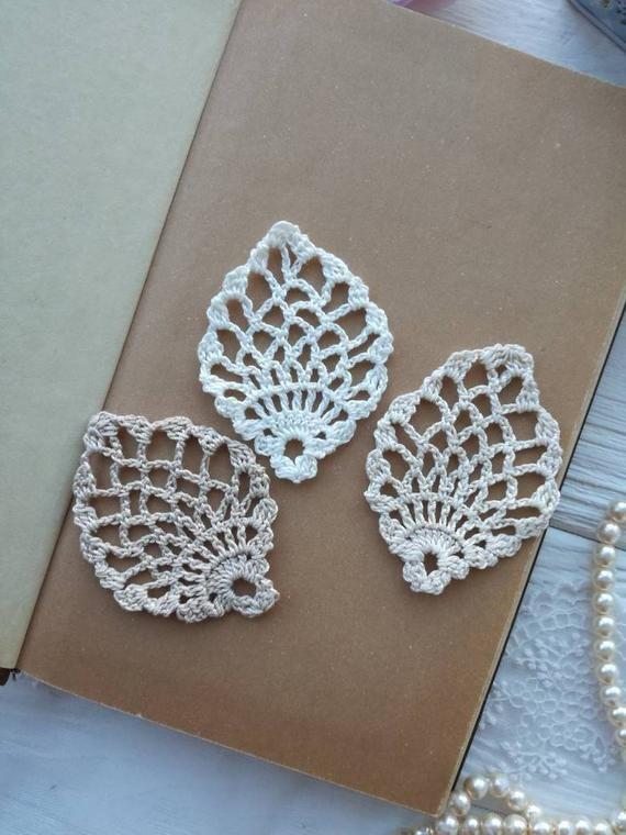 3 crochet elements. Crochet leaf. Crochet elements #crochetelements