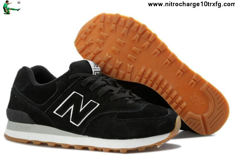 new balance 574 black brown
