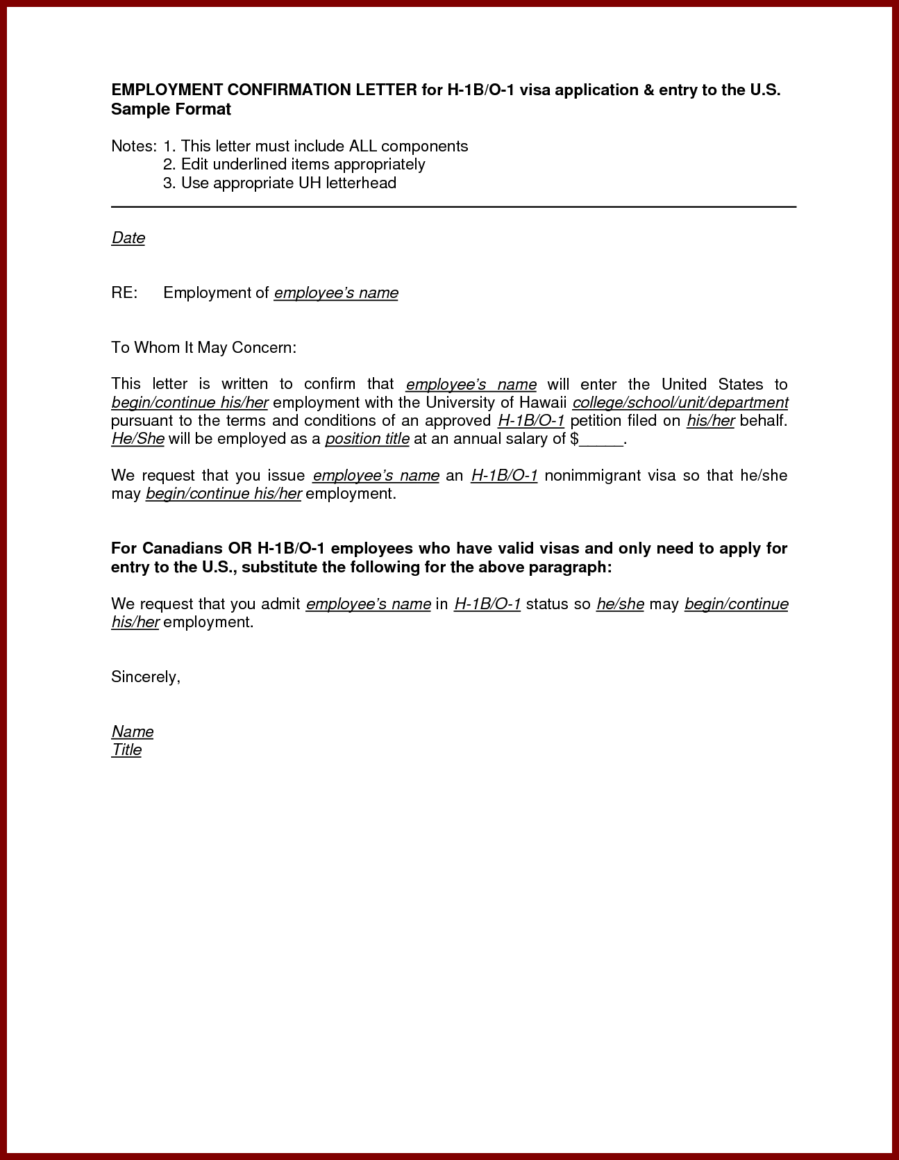 Appointment Verification Letter For Confirmation Employment Sample