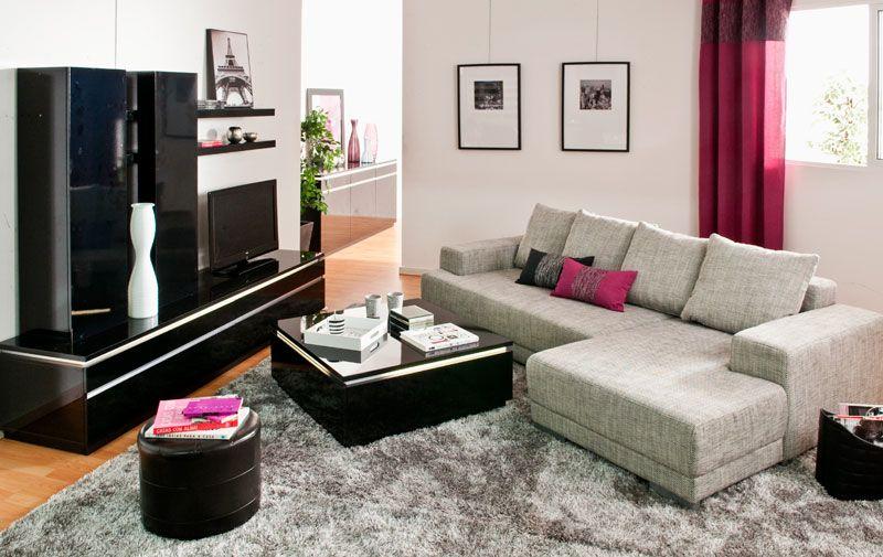 ideas para decorar salones ambiente electra en color negro