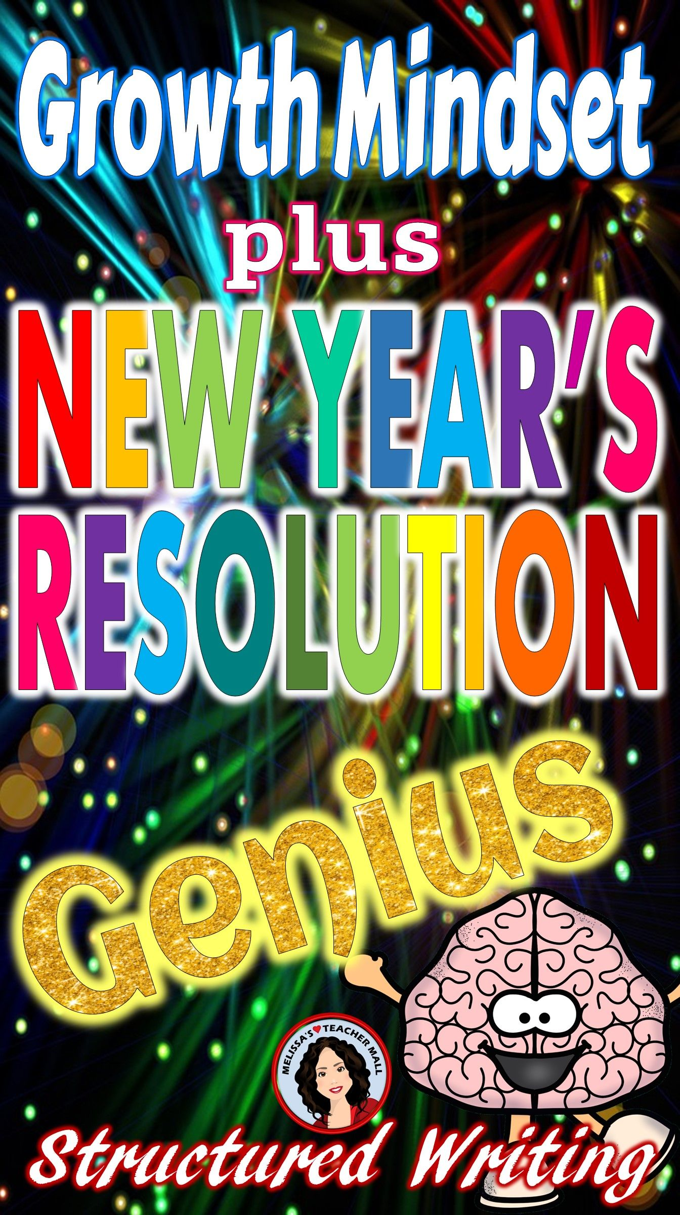 New Years Resolution Activity Using Growth Mindset