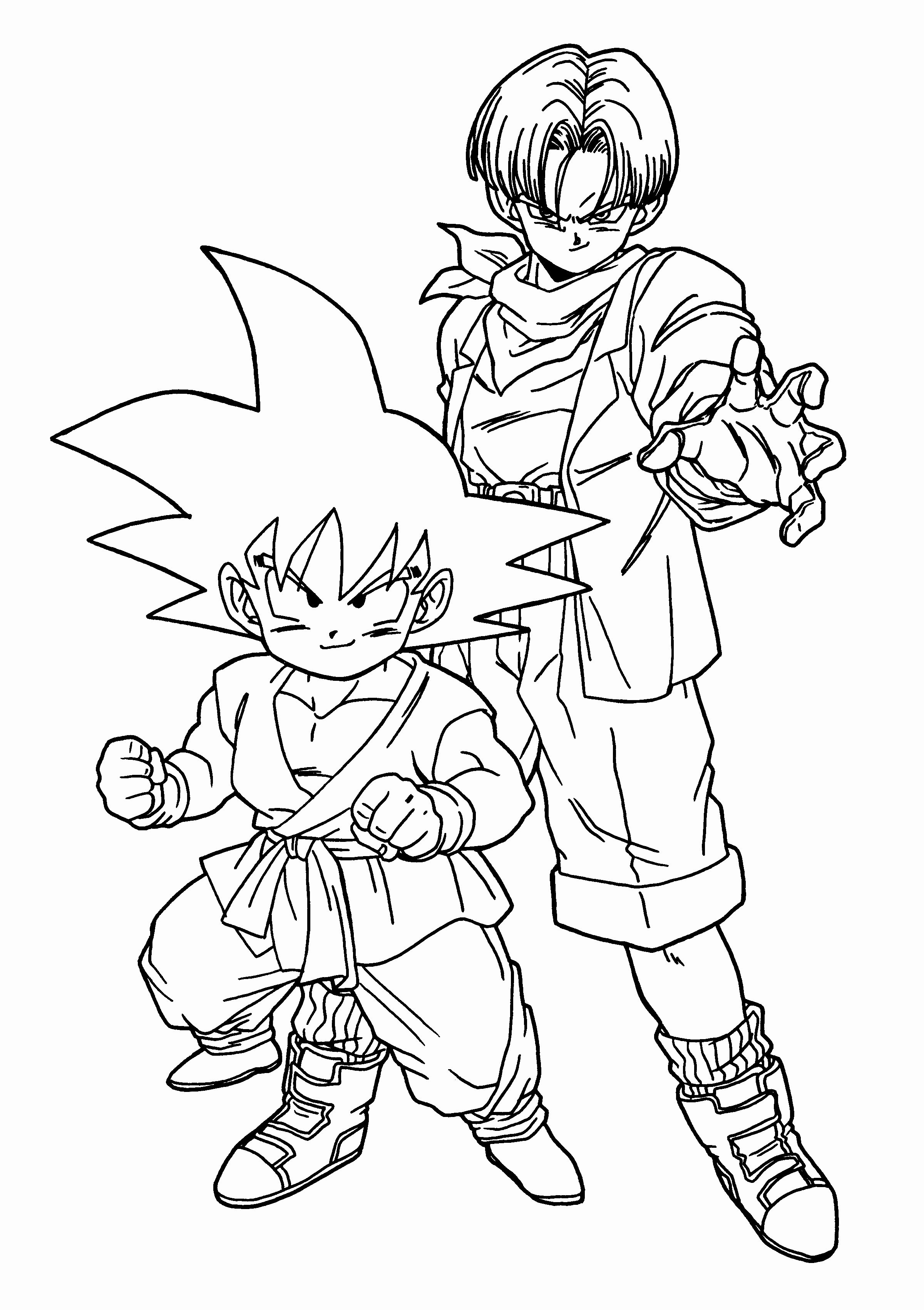 Dragon Ball Z Coloring Pages Printable Unique Dragon Ball Z Trunks Coloring Pages To Print Coloring Super Coloring Pages Cartoon Coloring Pages Coloring Books