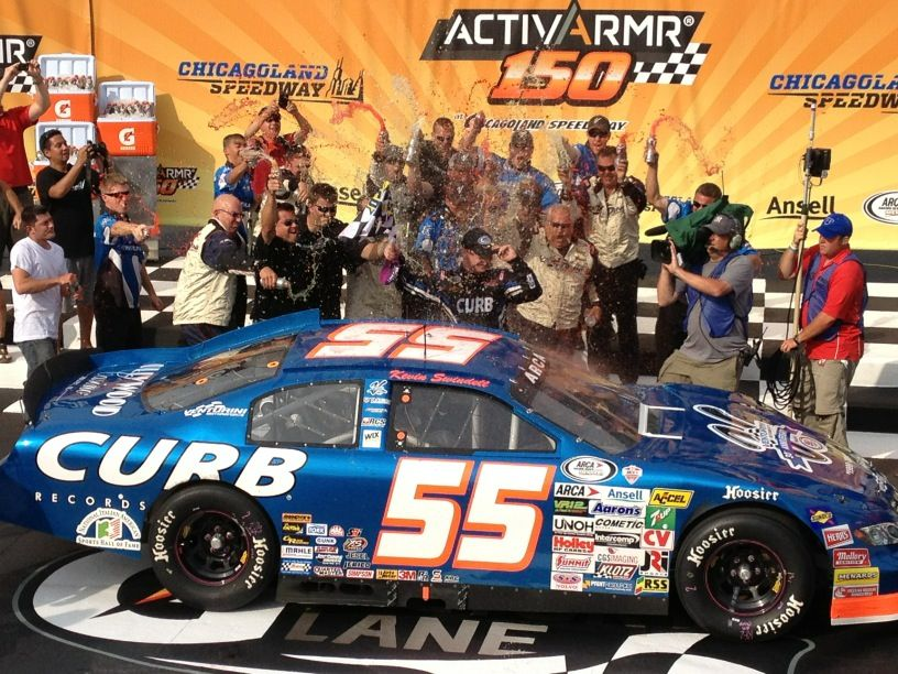 Saturday July 21st 2012  --  Congratulations To Kevin Swindell For Winning The Most Boring ARCA Series Ansell ActivArmr 150 at Chicagoland Speedway In Joliet, Illinois.  Kevin Lead Every Lap And There Were Only 9 Cars In The Lead Lap At The End; BORING!