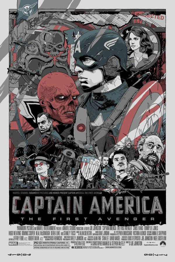 Vintage Captain America Posters