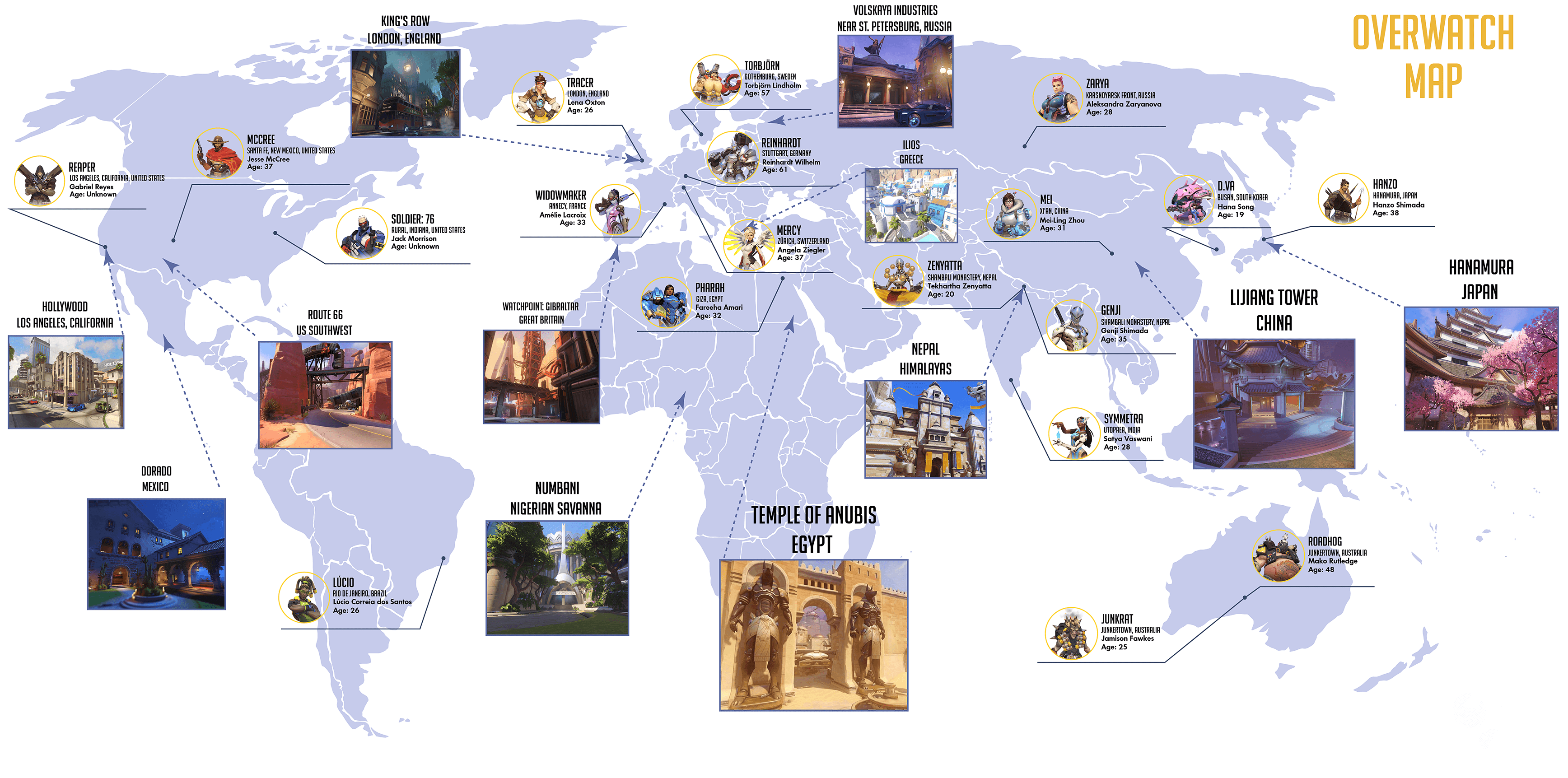 Here Is The Big Overwatch Map Overwatch Overwatch Design