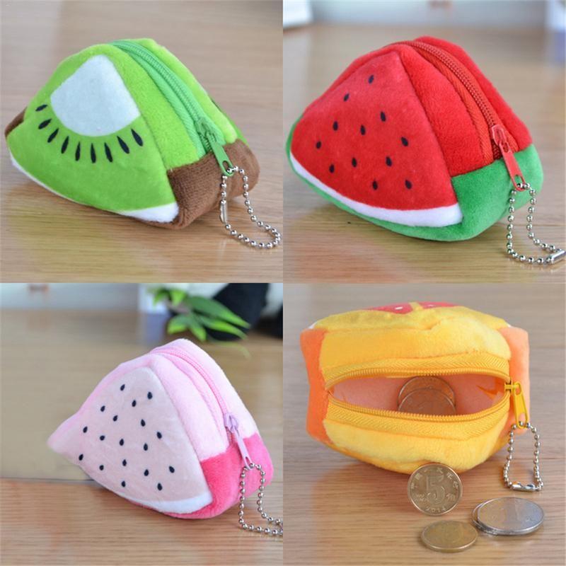 Women/'s Plush Fruits Coin Cash Bag Zipper Wallet Pocket Purse Handbag Clutch